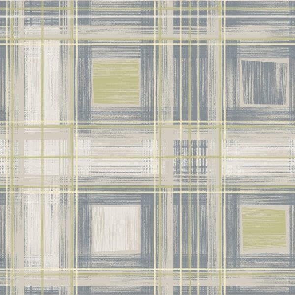 Papel de Parede Adesivo Abstrato Quadrados Linhas
