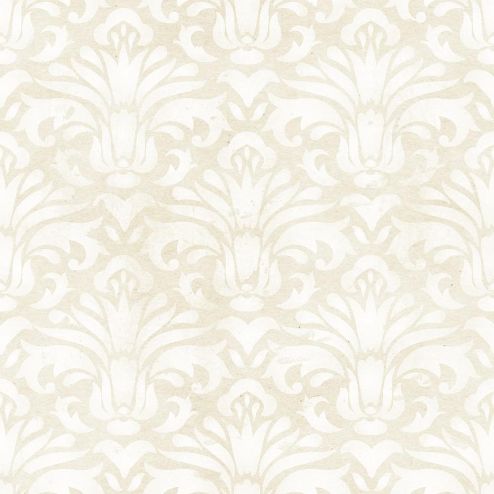 Papel de parede adesivo arabesco bege e branco eucolo - Papel para revestir paredes ...