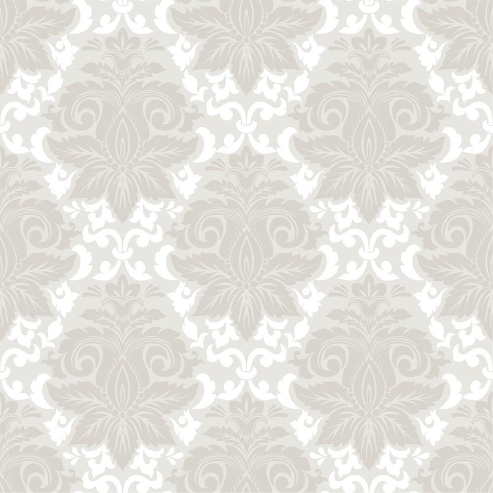 Artesanato Rede ~ Papel de Parede Adesivo Arabesco Bege e Branco 26 EuColo