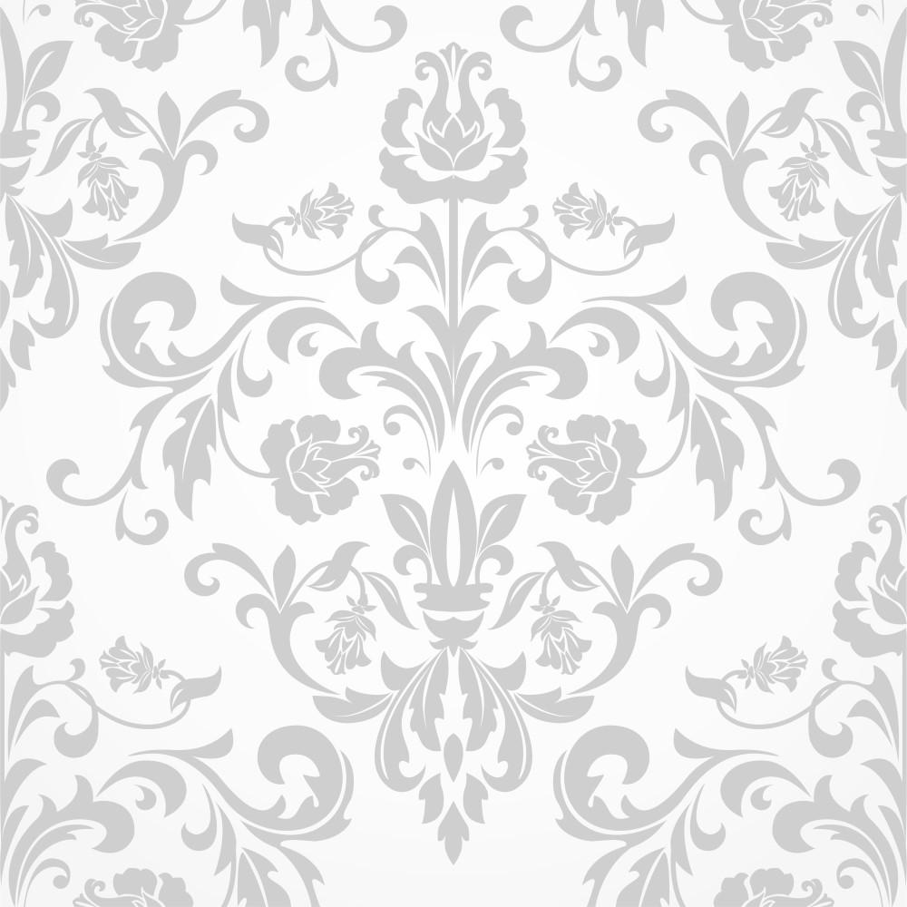 Artesanato Rede ~ Papel de Parede Adesivo Arabesco Cinza e Branco EuColo