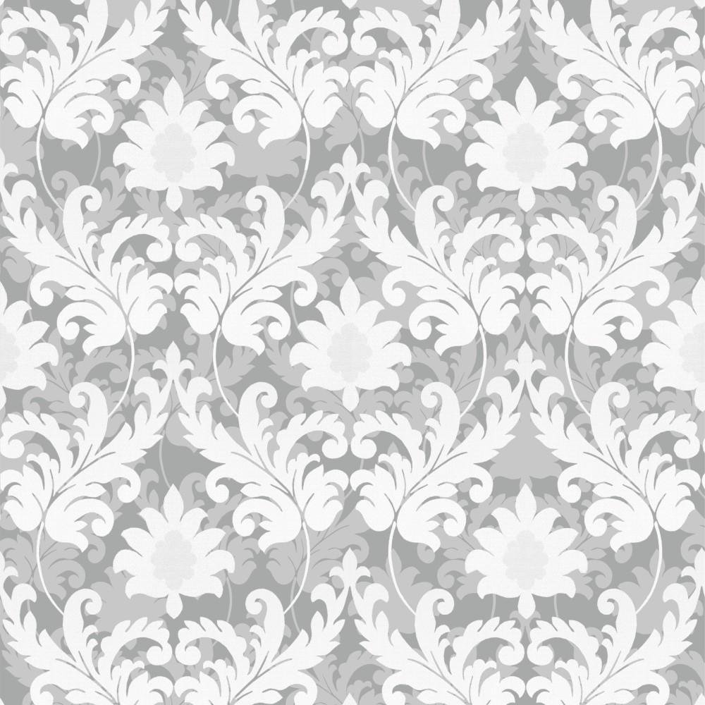 Artesanato Rede ~ Papel de Parede Adesivo Arabesco Bege e Branco EuColo
