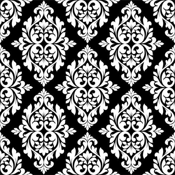 Papel de Parede Adesivo Arabesco Preto e Branco