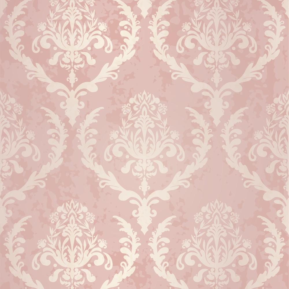 Papel de parede adesivo arabesco rosa eucolo for Papel lavable para paredes