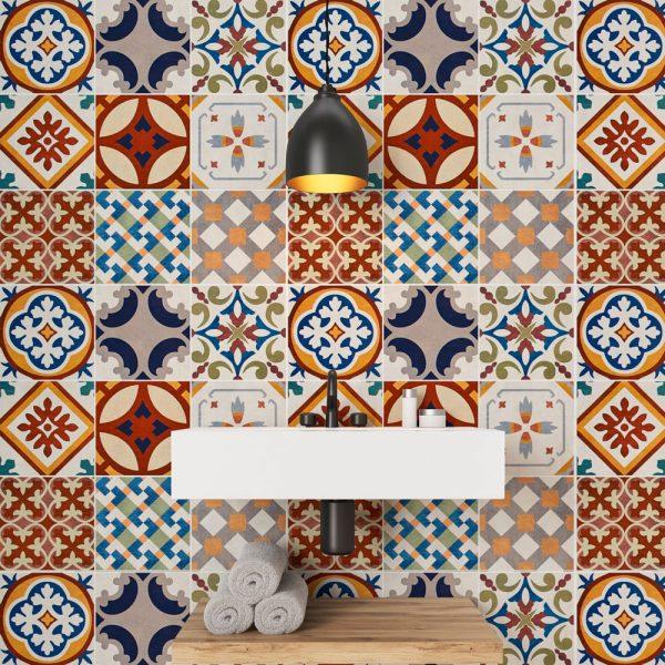 Papel de Parede Adesivo Azulejo Bristol