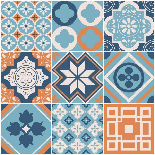 Papel de Parede Adesivo Azulejo Busan