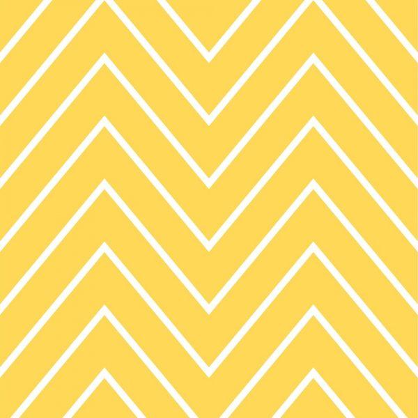 Papel de Parede Adesivo Chevron Amarelo com Branco