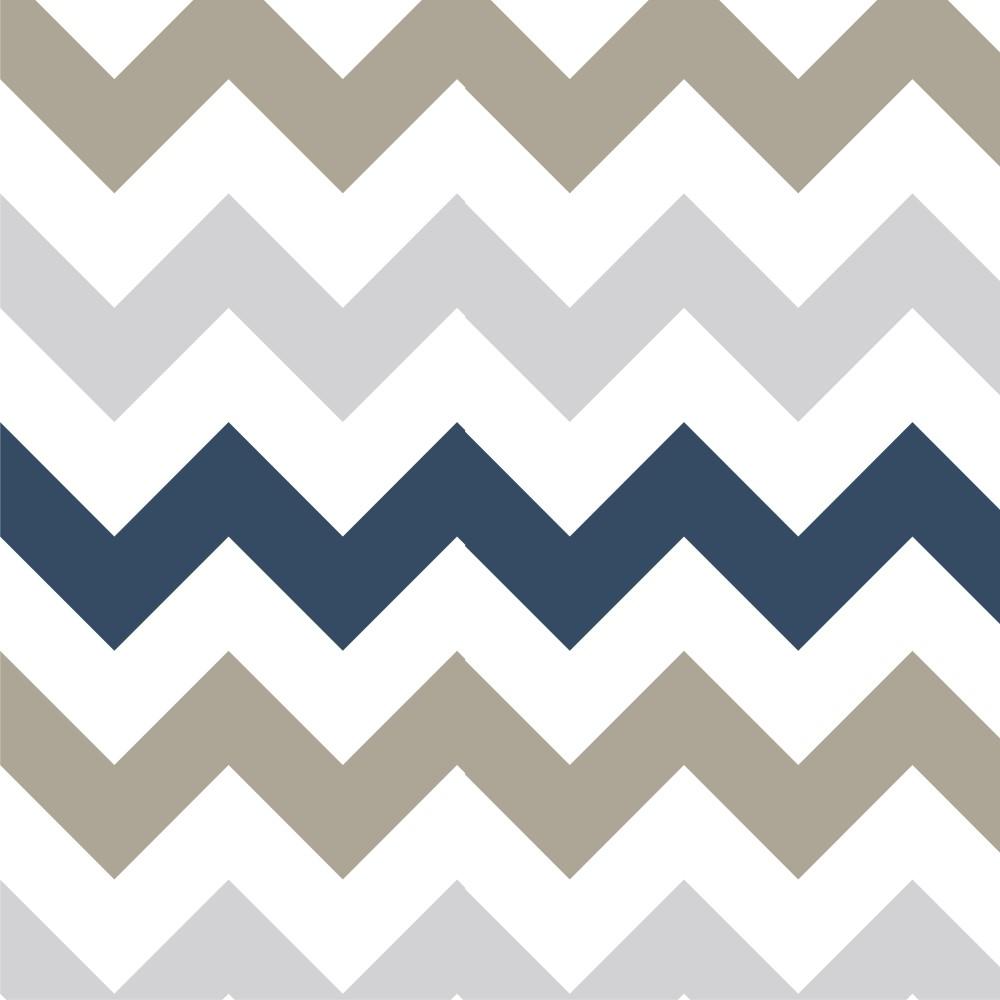 Papel de parede adesivo chevron cinza azul e marrom eucolo - Papel para revestir paredes ...
