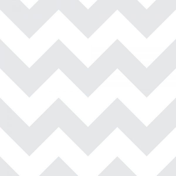 Papel de Parede Adesivo Chevron Cinza e Branco