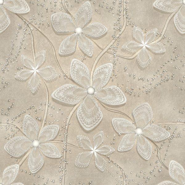 Papel de Parede Adesivo Floral 3D