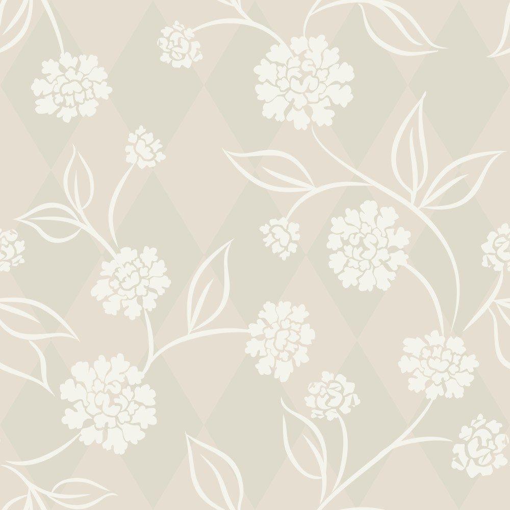 Papel de Parede Adesivo Floral Bege