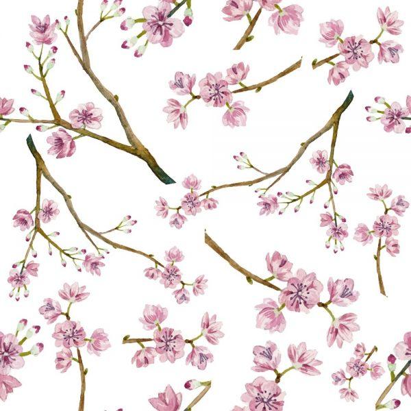 Papel de Parede Adesivo Floral Cerejeira
