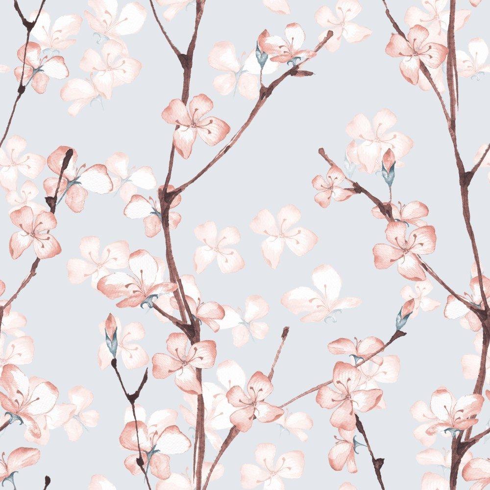 Papel de Parede Adesivo Floral Cerejeira Delicada