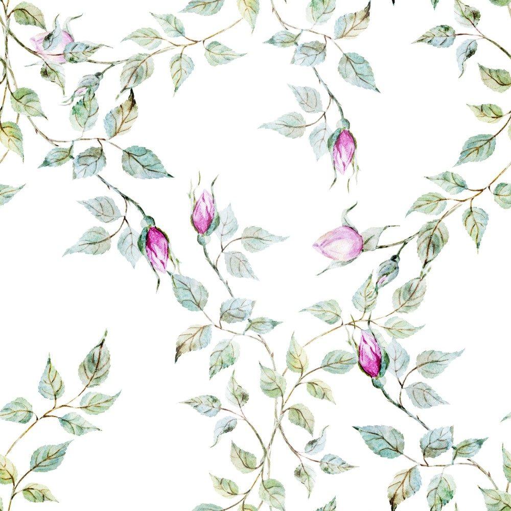 Papel de Parede Adesivo Floral com Botão de Rosas