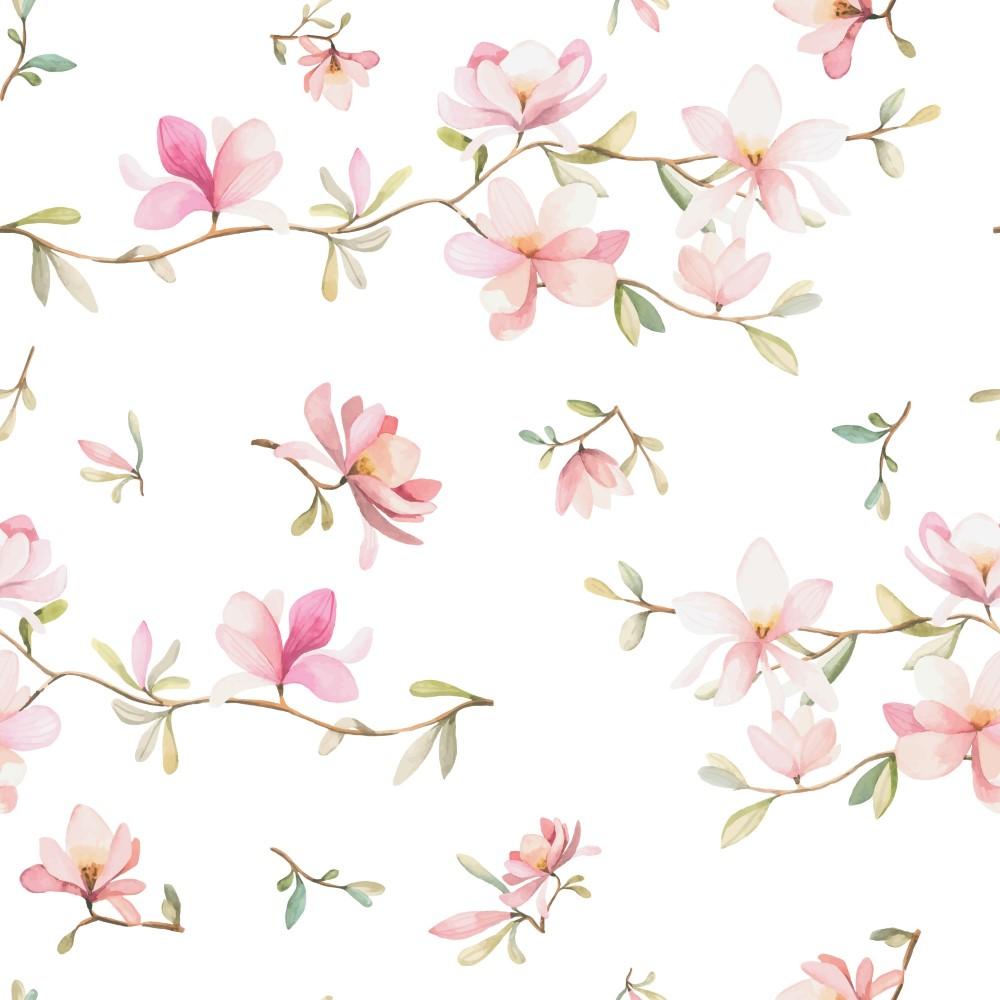 Papel de parede adesivo floral com galhos delicados eucolo - Papel para pared infantil ...
