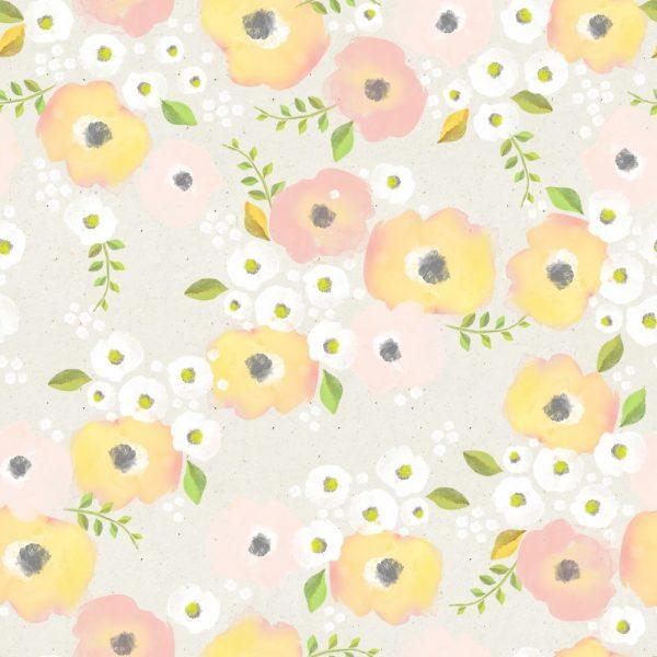 Papel de Parede Adesivo Floral Cores Pastéis