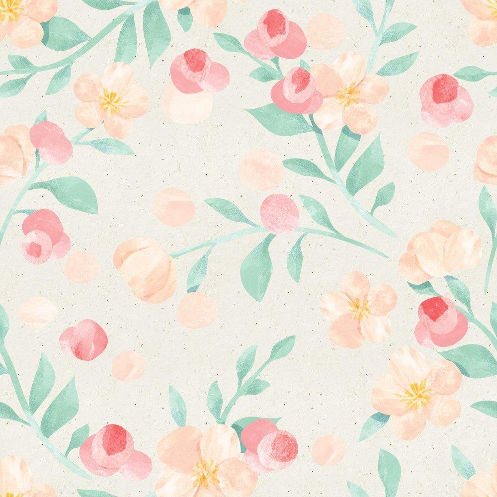 Papel de Parede Adesivo Floral Galhos de Tinta