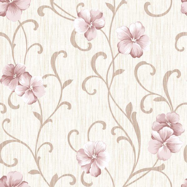 Papel de Parede Adesivo Floral Rosas com Galhos