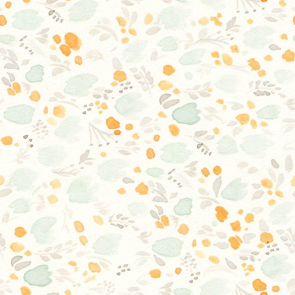 Papel de Parede Adesivo Floral Rosas de Papel Amarelo