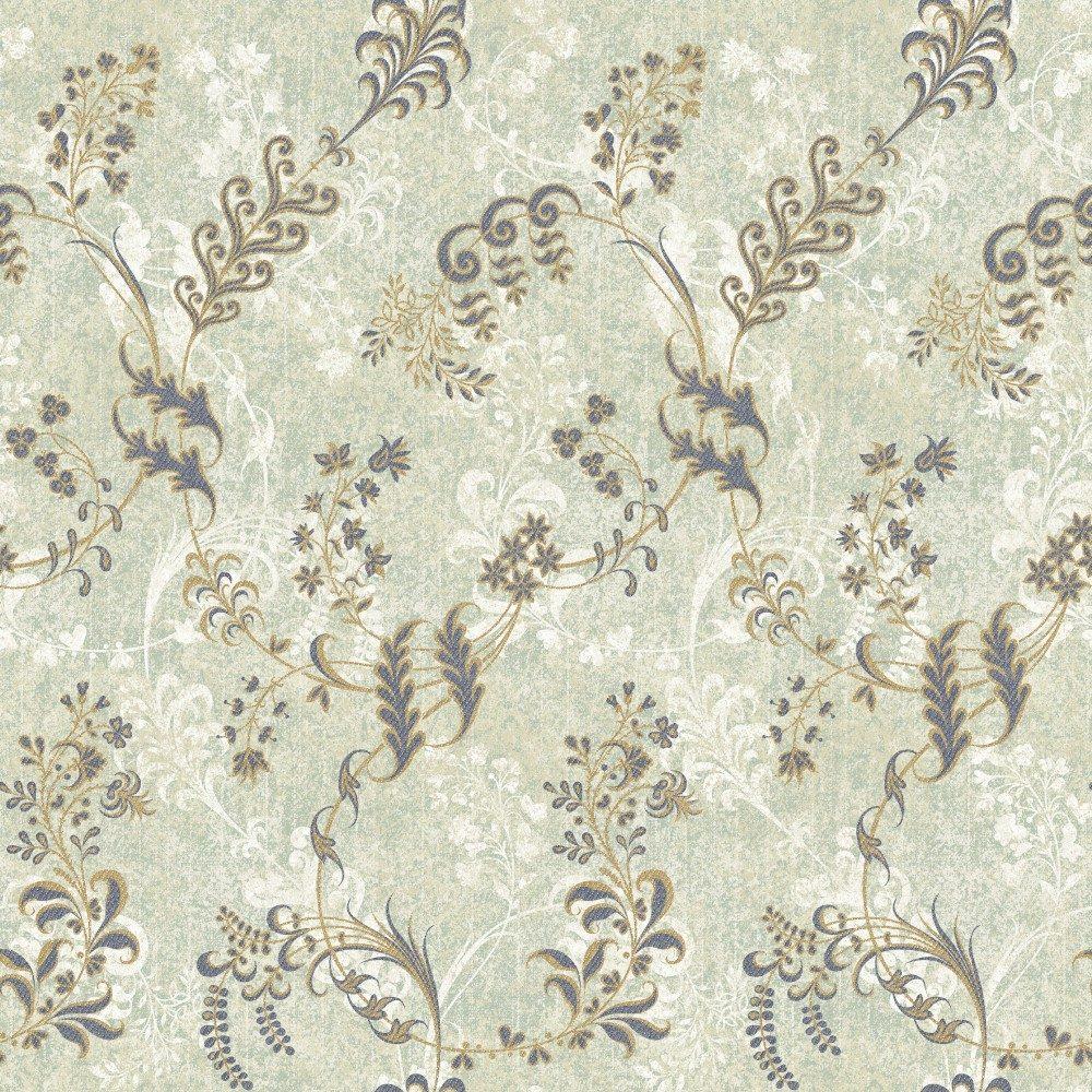 Papel de Parede Adesivo Floral Vintage com Galhos