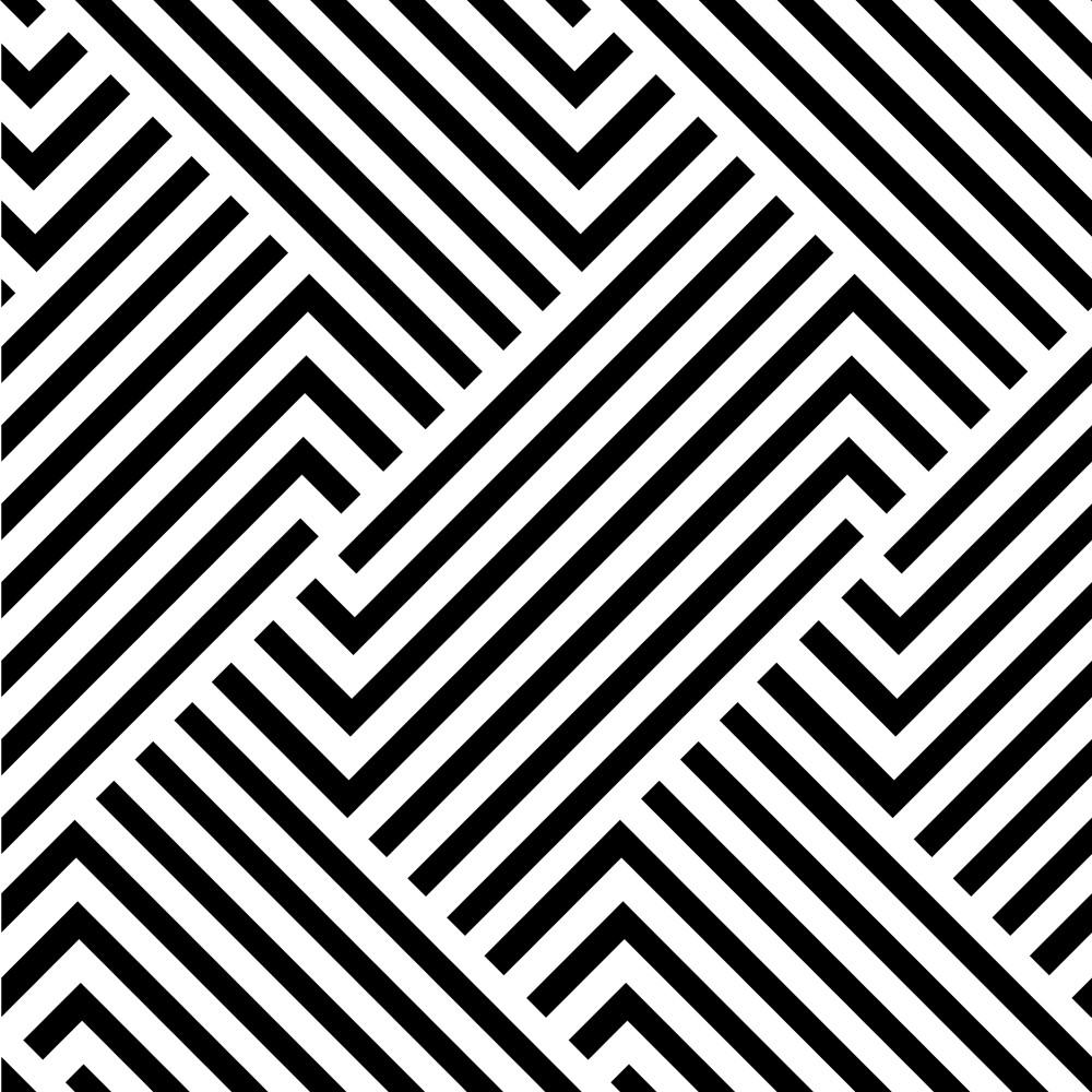 Artesanato Passo A Passo Com Cd ~ Papel de Parede Adesivo Geométrico Linhas Preto e Branco