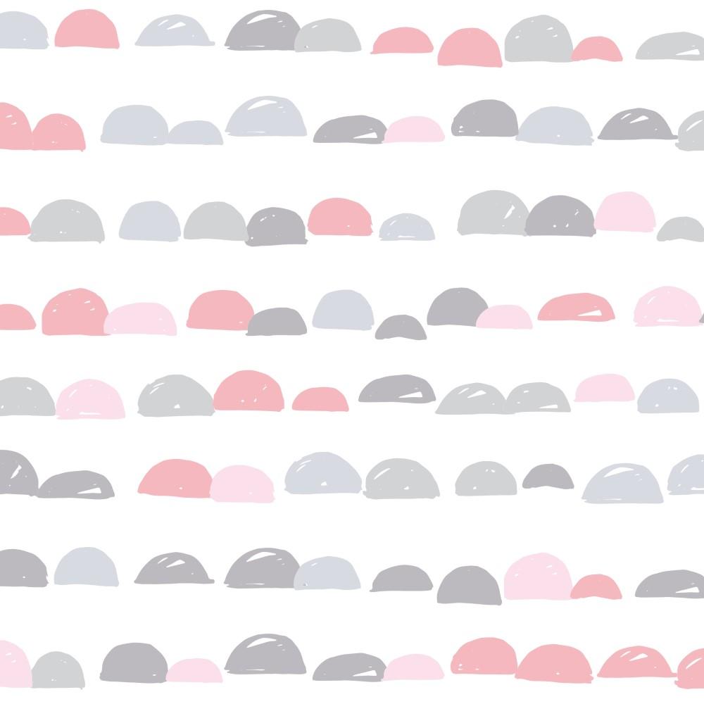 Artesanato Portugues Revenda ~ Papel de Parede Adesivo Geométrico Escamas Rosa com Cinza EuColo