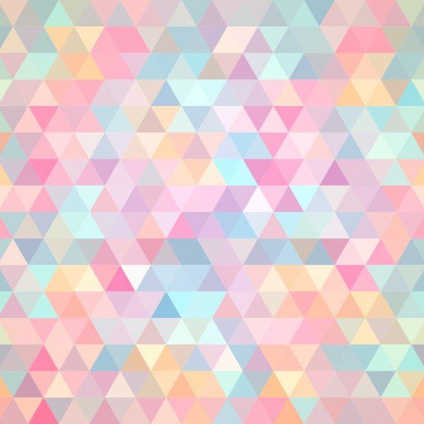 Papel de Parede Adesivo Geométrico Mosaico Colorido Rosa