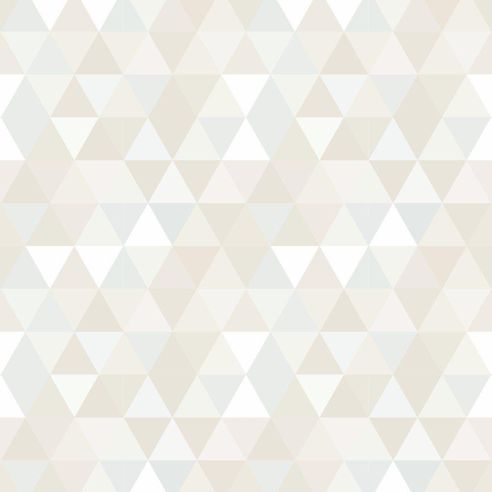 Papel de Parede Adesivo Geométrico Mosaico Tons de Bege