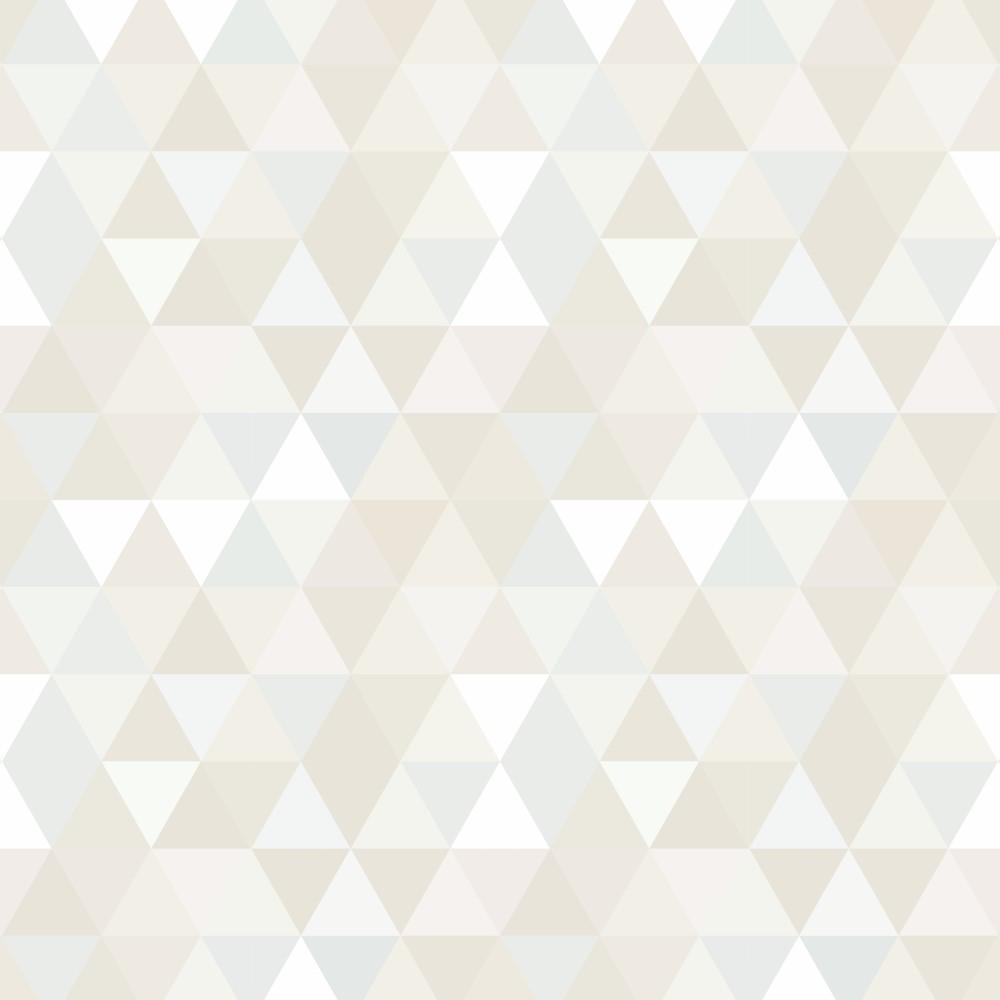 Papel de parede adesivo geom trico mosaico tons de bege eucolo - Papel para revestir paredes ...