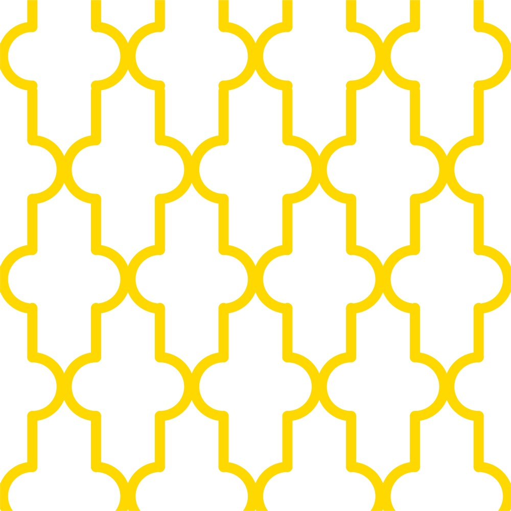 Como Funciona O Adesivo De Credito Santander ~ Papel de Parede Adesivo Geométrico Retro Amarelo e Branco EuColo