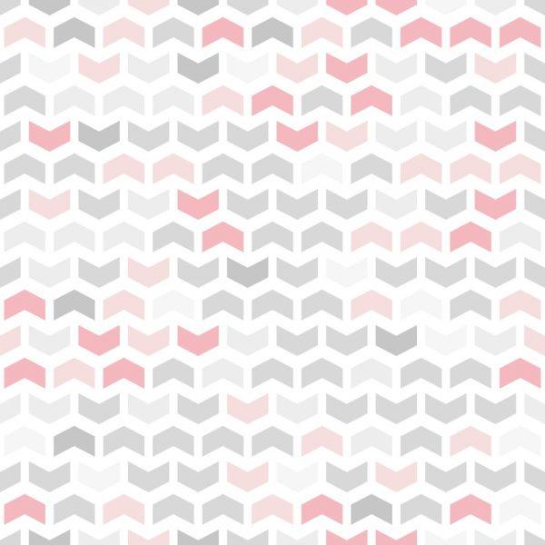 Papel de Parede Adesivo Geométrico Rosa com Cinza