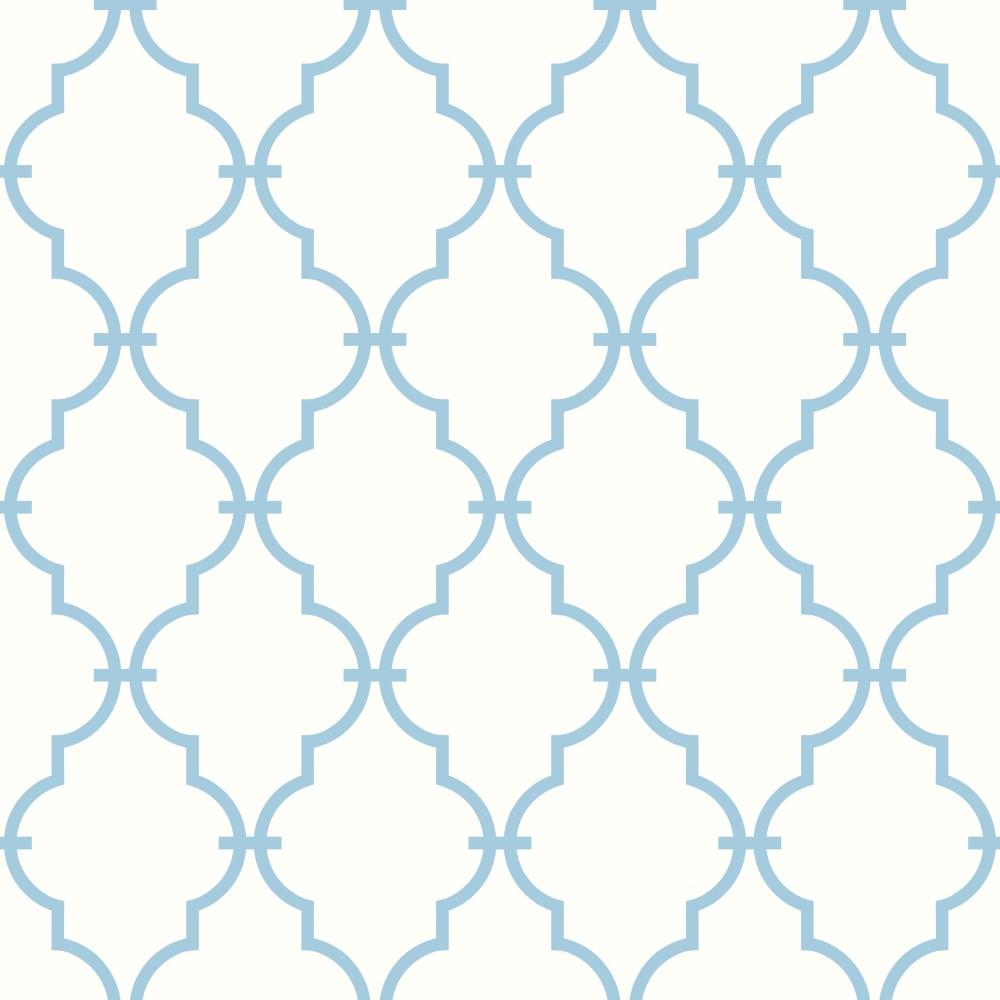 Papel de parede adesivo geom trico treli a azul eucolo - Papel para revestir paredes ...