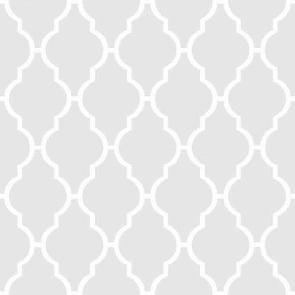 Papel de Parede Adesivo Geométrico Treliça Branco com Cinza