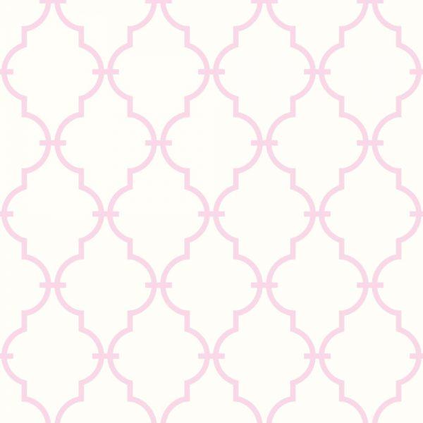 Papel de Parede Adesivo Geométrico Treliça Rosa