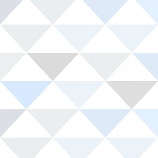 Papel de Parede Adesivo Geométrico Triangulos Tons de Azul e Cinza