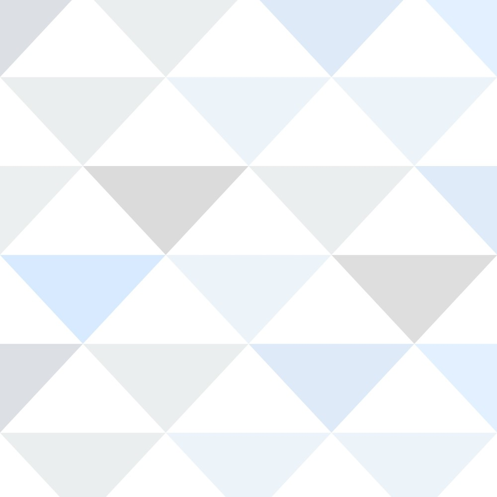 Artesanato Portugues Revenda ~ Papel de Parede Adesivo Geométrico Triangulos Tons de Azul e Cinza EuColo