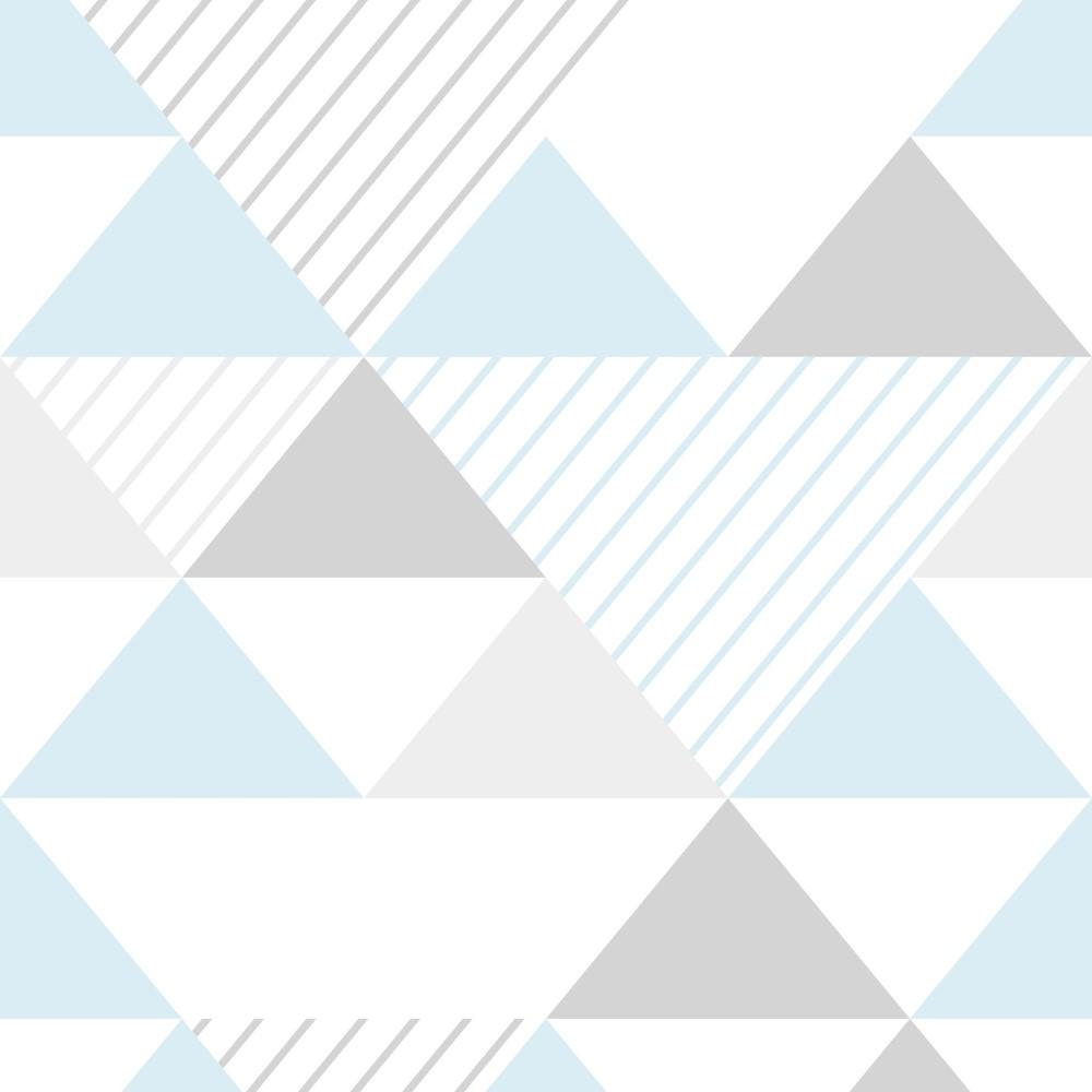 Adesivo De Unhas Para Formatura ~ Papel de Parede Adesivo Geométrico Triangulos Azul e Cinza