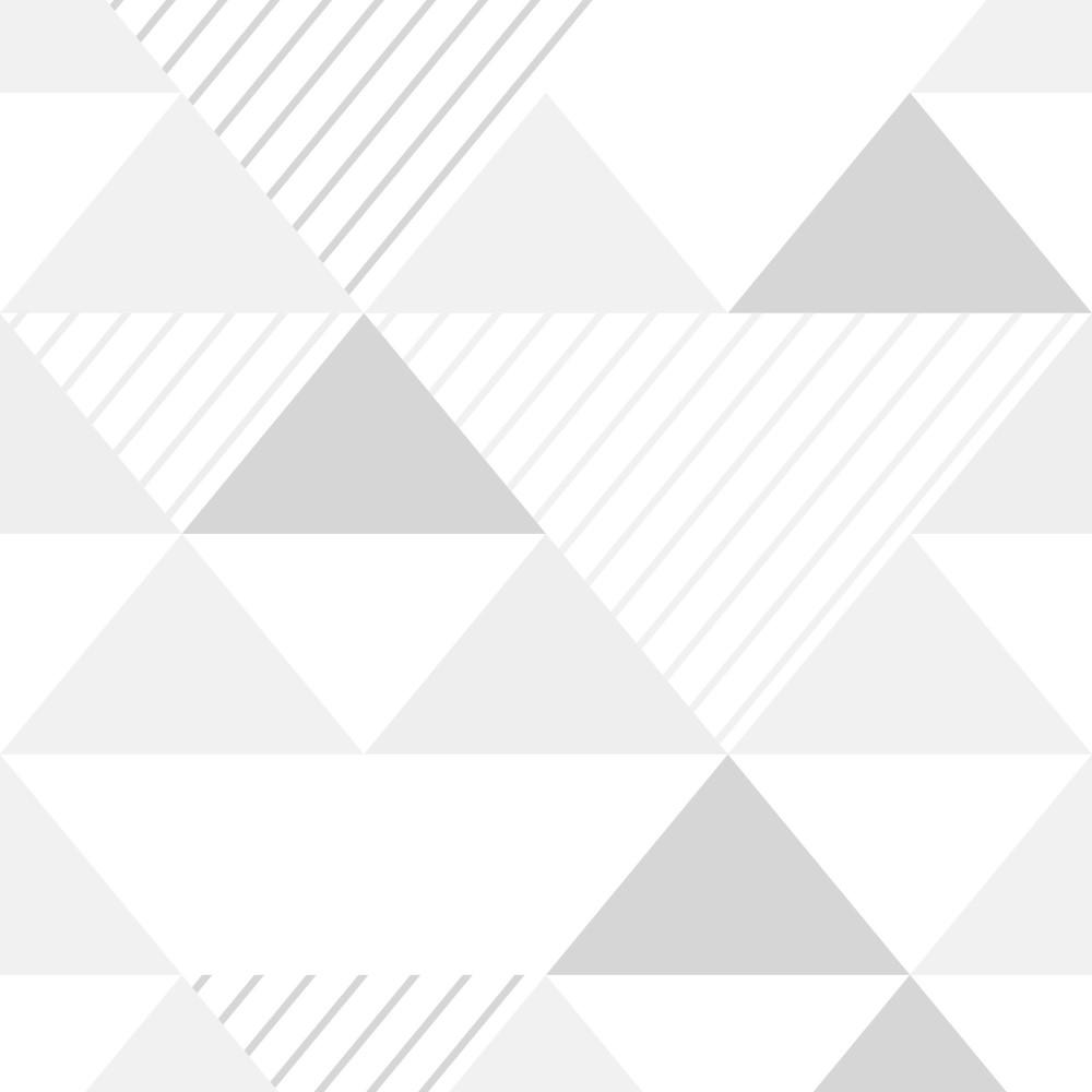 Papel de parede adesivo geom trico triangulos tons de for Papel para paredes baratos