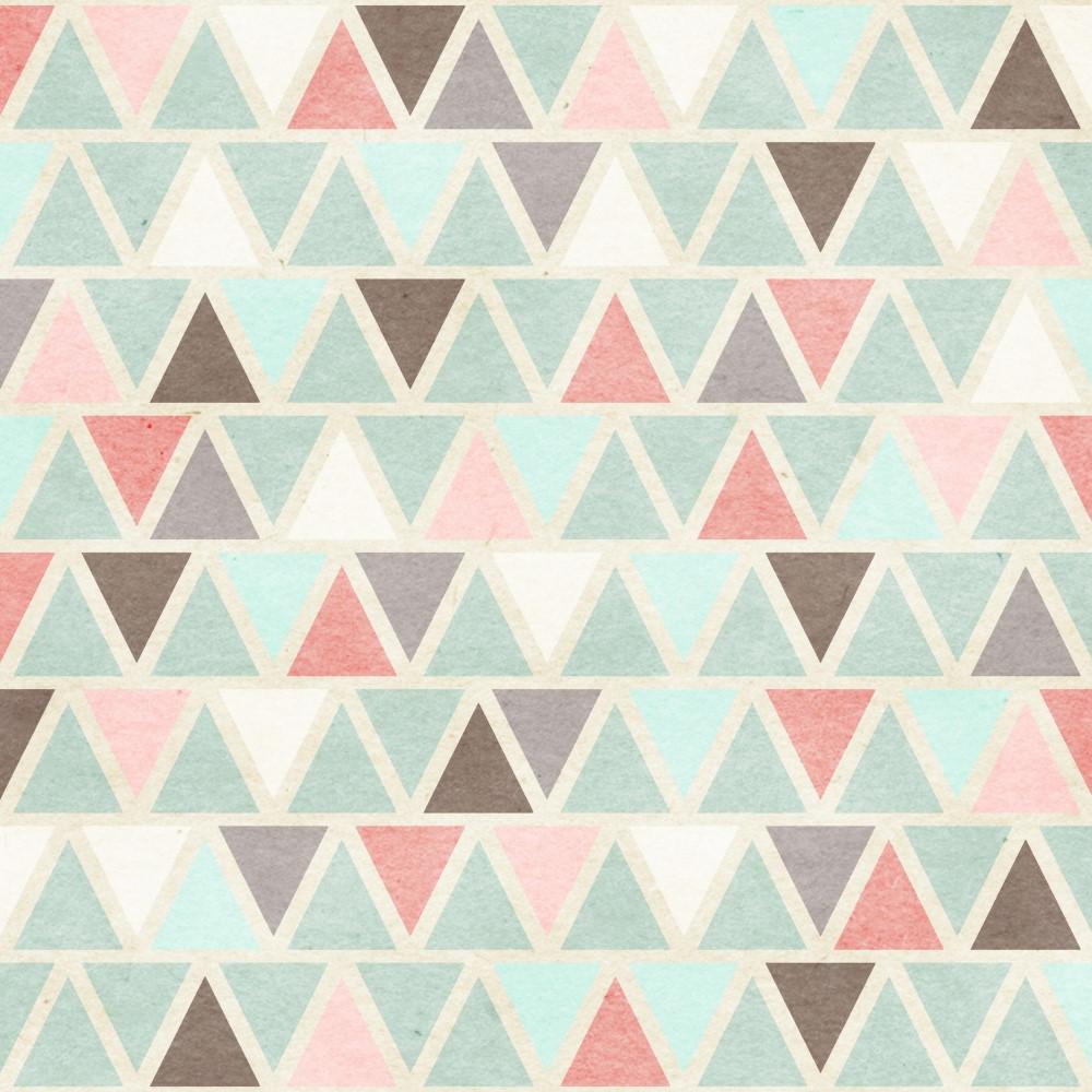 Artesanato Portugues Revenda ~ Papel de Parede Adesivo Geométrico Triangulos Coloridos Verde e Salm u00e3o EuColo
