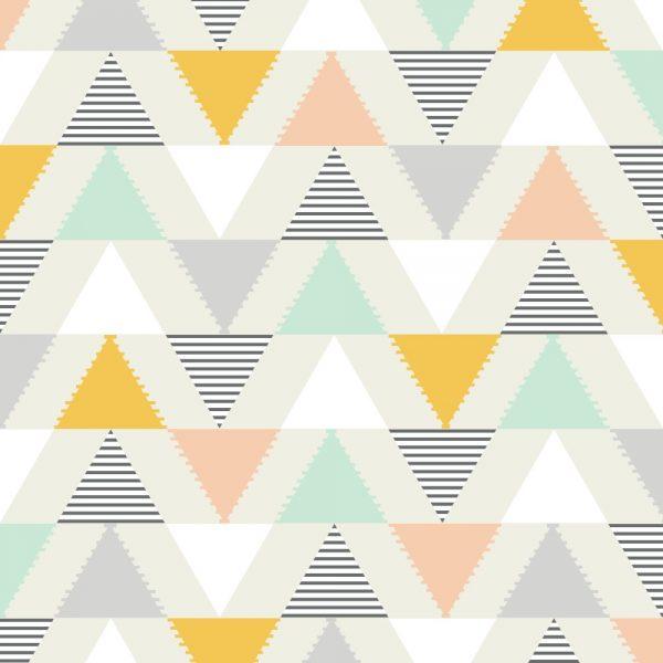 Papel de Parede Adesivo Geométrico Triangulos Formas Diversas