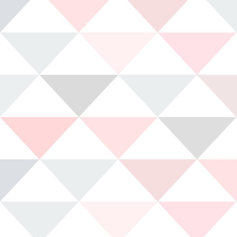 Papel de parede adesivo geom trico triangulos tons de rosa for Papel para paredes salon