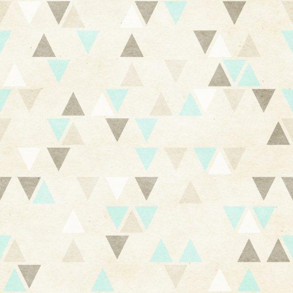 Papel de Parede Adesivo Geométrico Triangulos Verde e Marrom