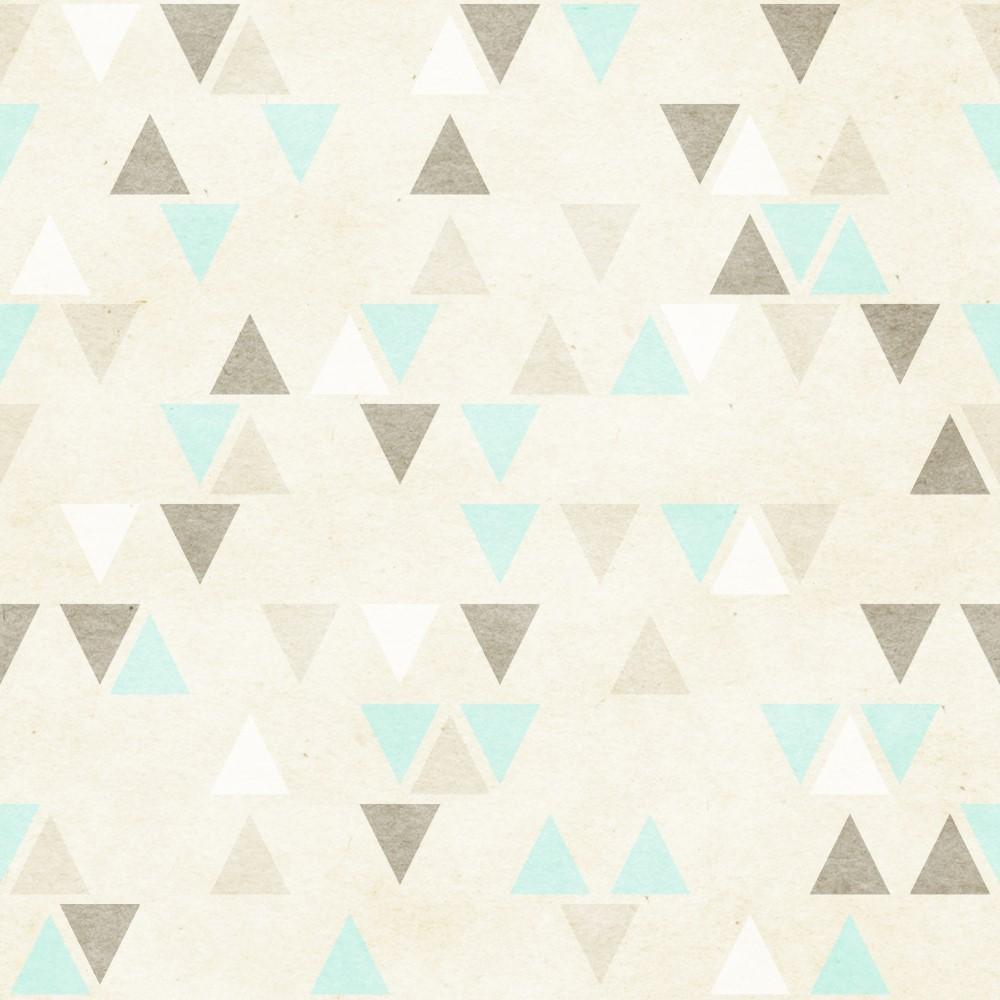 Papel de parede adesivo geom trico triangulos verde e for Papel de pared dorado