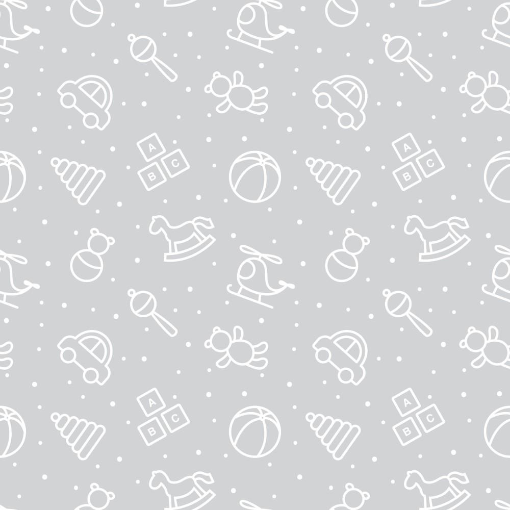 Papel de parede adesivo infantil elementos cinza eucolo for Papel de pared infantil