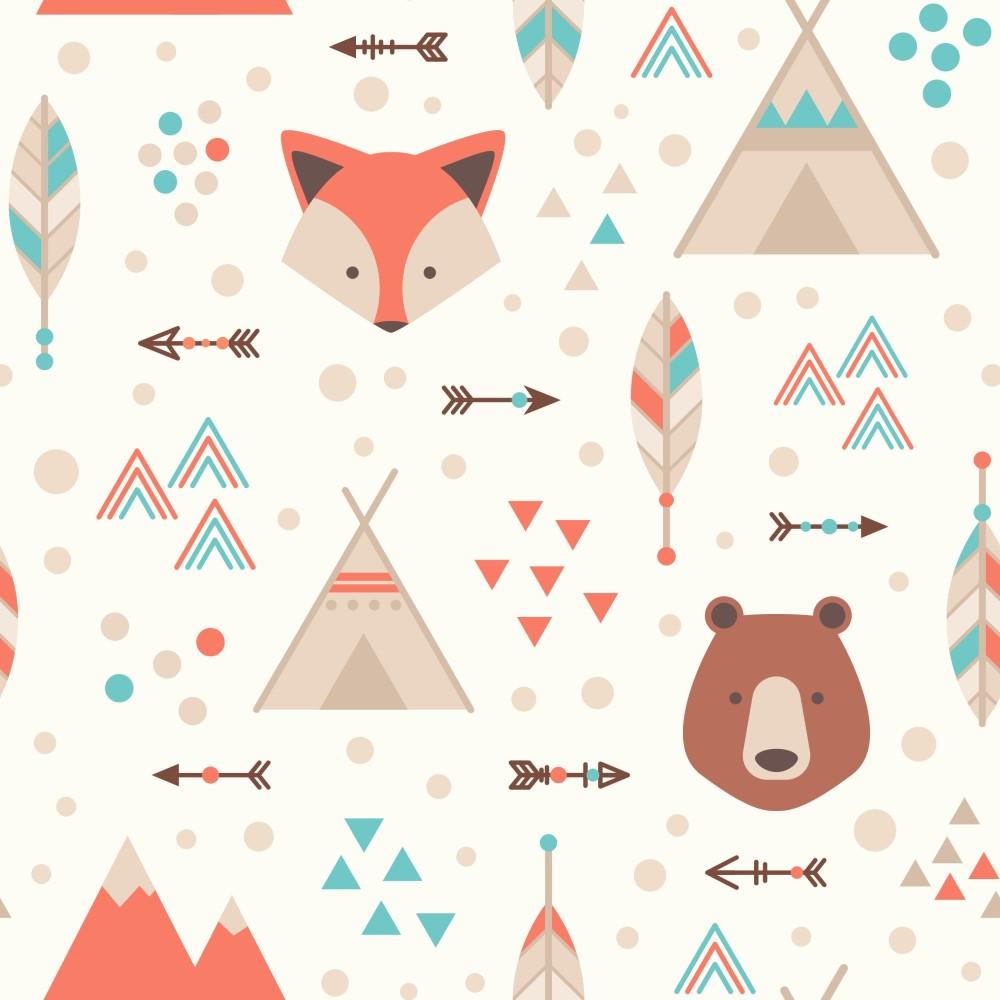 Papel de parede adesivo infantil floresta com urso eucolo for Papel pared infantil