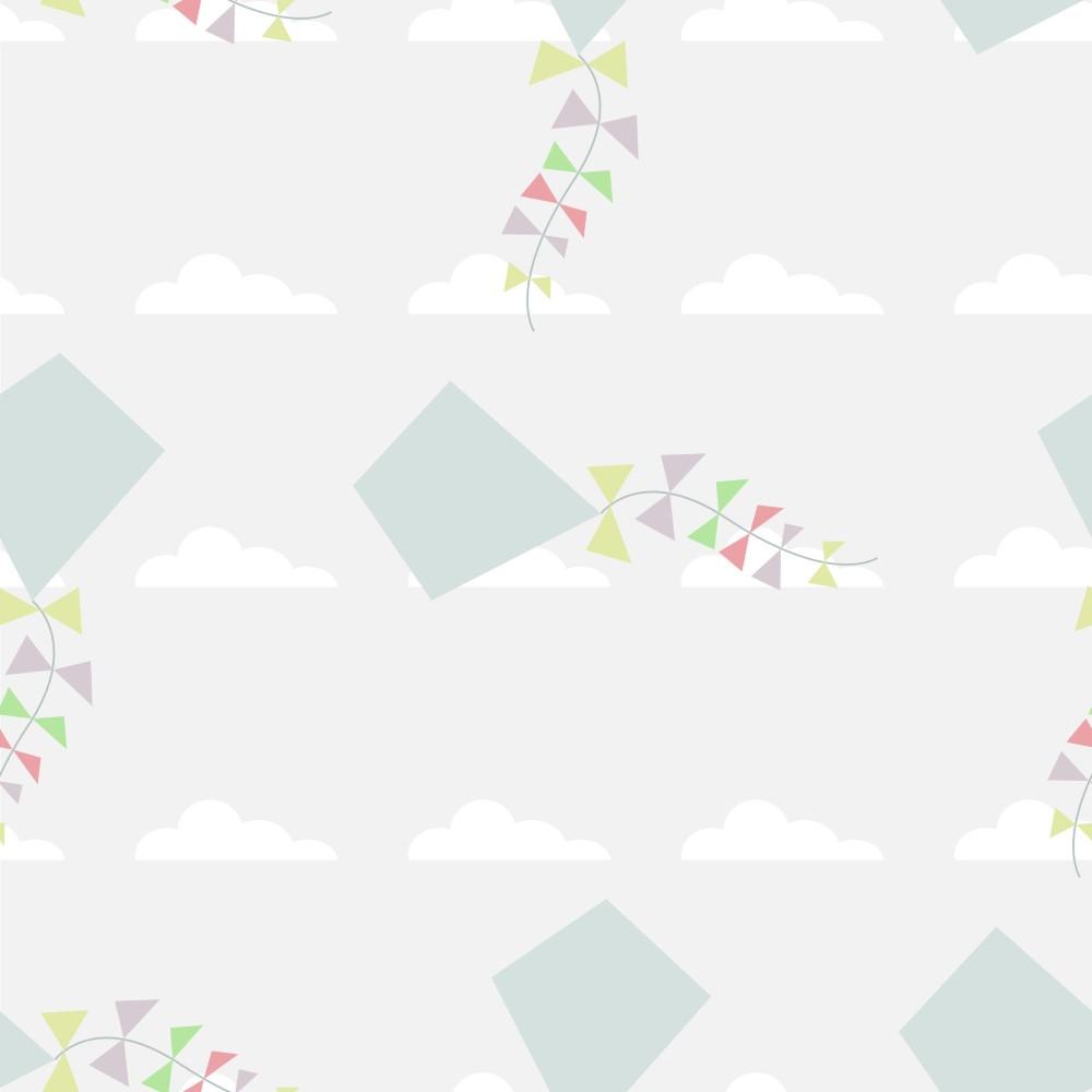 Papel de parede adesivo infantil pipas eucolo for Papel decomural infantil