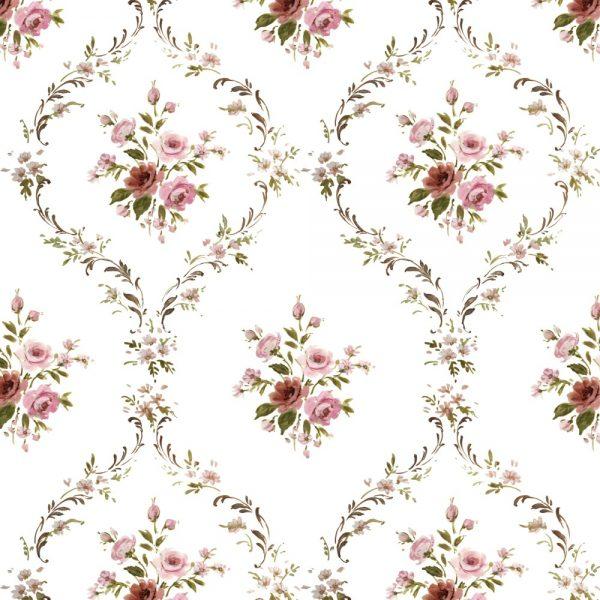 Papel de Parede Adesivo Ornamentos Floral