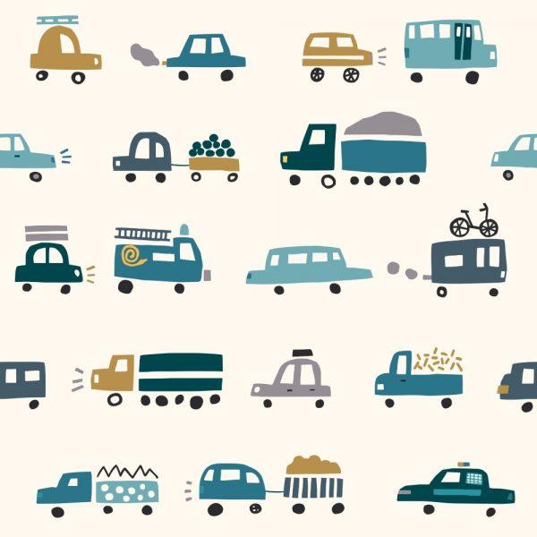 Papel de Parede Adesivo Infantil Meios de Transporte