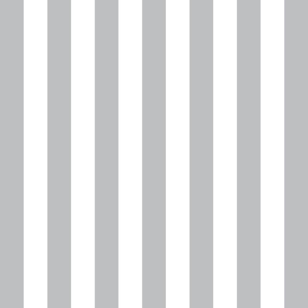 Papel de Parede Adesivo Listrado Cinza e Branco EuColo