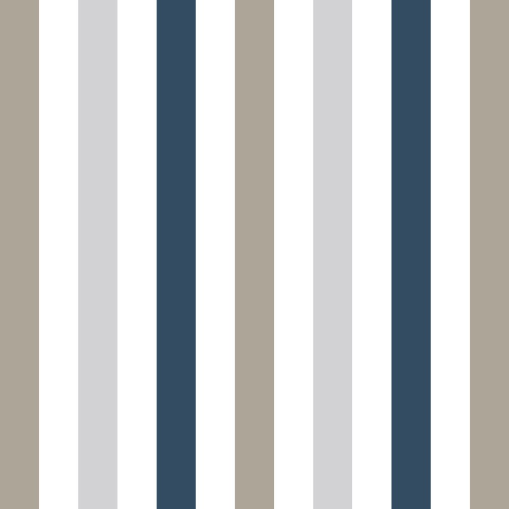 Adesivo De Parede Arvore Com Fotos ~ Papel de Parede Adesivo Listrado Marrom e Azul EuColo