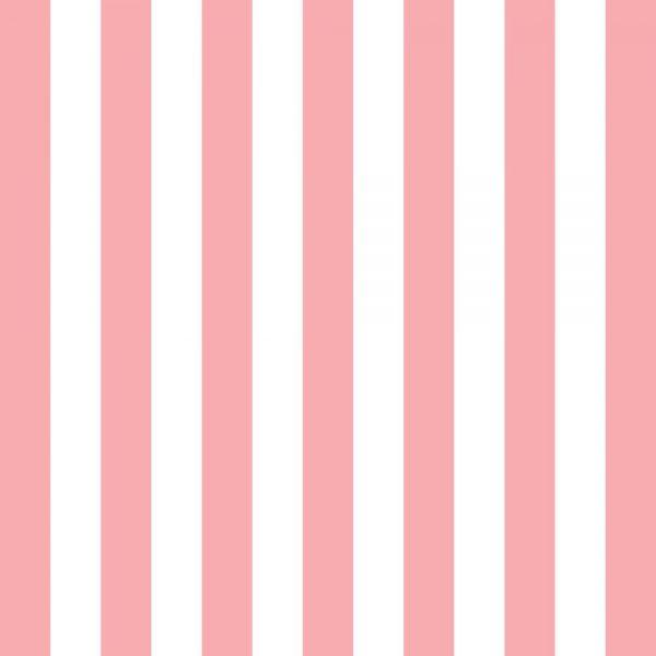 Papel de Parede Adesivo Listrado Rosa Salmão e Branco
